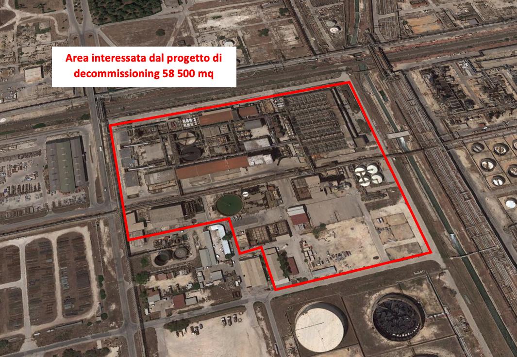 Progettazione per appalto decommissioning impianto Cloro Soda Priolo Gargallo