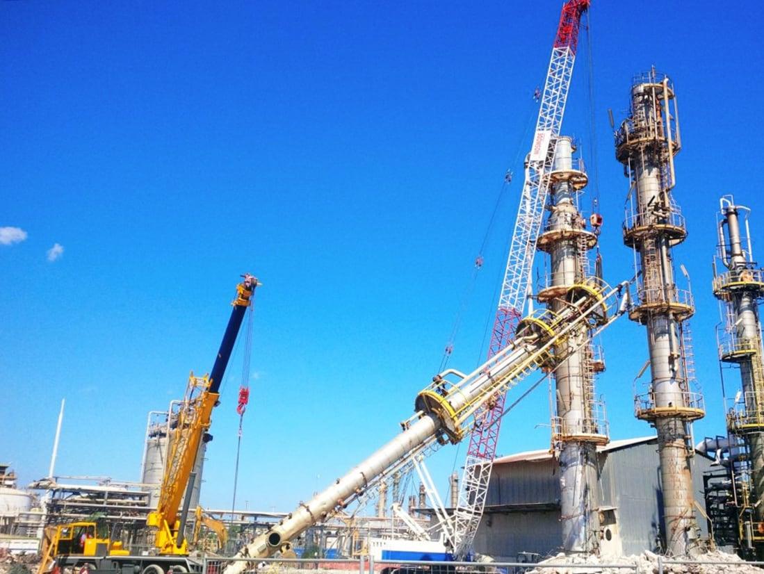 Progettazione esecutiva e ingegneria on site relative allo smontaggio, rottamazione e smantellamento dell'impianto di Ossido di Propilene (PO) Priolo Gargallo
